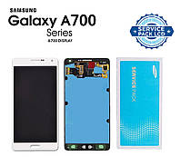 Дисплей + сенсор Samsung A700 Galaxy A7, A700H A7 White белый Оригинал SERVICE PACK GH97-16922A