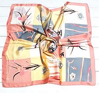 Шелковый платок Fashion Вероника 90*90 см пудровый 1021-4