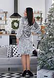 Платье на запах из крэш бархата батал, очень высокого качества р.50,52,54,56,58,60 код 836О, фото 3