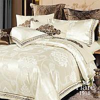 Комплект постельного белья сатин жаккард Tiare  - Двуспальный Евро (1918)
