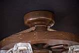 """Люстра деревянная """"Колесо телеги"""" с пивными бокалами, фото 4"""