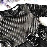 Черное пышное платье на девочку c повязкой Breeze 2. Размер 80 см, 92 см, 98 см, 104 см, 110 см, фото 2