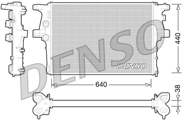 Основной радиатор двигателя IVECO DAILY  (DRM12008/5801264635)