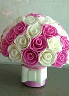 """Світильник """"Букет троянд -4"""" Оригінальний подарунок ручної роботи., фото 1"""
