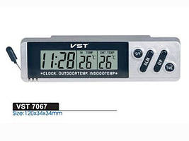 Автомобильные часы с термометром vst-7067