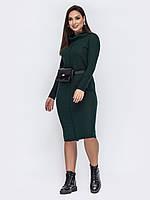 Темно зеленое платье большой размер повседневное 48 50 52 54 56 58 60