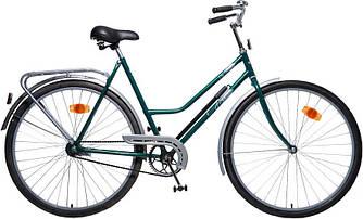Велосипед АІСТ 112-314 / AIST City classic /Варена рама / Жіночий ,дорожній, міський (Тонка рама) Зелений