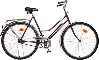 Велосипед АІСТ 112-314 / AIST City classic /Варена рама / Жіночий ,дорожній, міський (Тонка рама) Фіолетовий