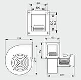 Нагнетательный вентилятор CMB/2 160 1120м3/ч (Польша), фото 5