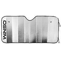 Солнцезащитная шторка WINSO на лобовое стекло 130*60см зеркальная 130600