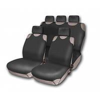 Комплект чехлов на сидения  автомобиля(майки)  510-5  (9 предметов)  черный