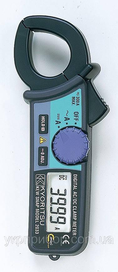 Kyoritsu KEW Model 2033 - Цифровые токоизмерительные клещи для измерения постоянного и переменного тока (24мм)