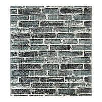 Самоклеющиеся 3D панели декоративные обои Sticker Wall 700x770x5мм серый екатеринославский кирпич.
