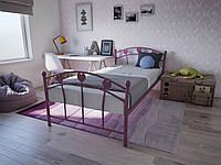Односпальная детская кровать для девочки Принцесса Melbi. Ліжко односпальне металеве