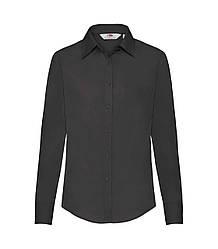 Женская рубашка с длинным рукавом Poplin черная 012-36