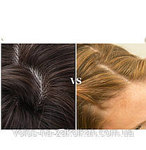 Парик черно серый пепельный  омбре с челкой по медицинским показаниям перука друга з гривкою блонд, фото 3