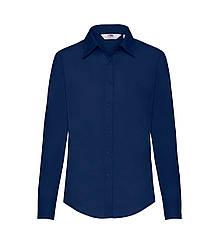 Женская рубашка с длинным рукавом Poplin темно-синяя 012-32