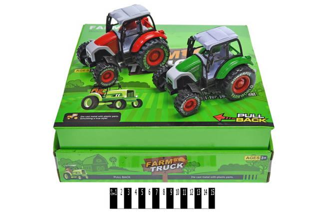 Трактор инерционный, металл-пластик, 955-83, фото 2