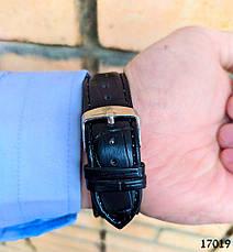Часы мужские. Мужские наручные часы цвета серебро. Часы с черным циферблатом Годинник чоловічий, фото 3