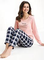 Піжама жіноча LUNA 470 комплект кофта та штани, розмір M, фото 1