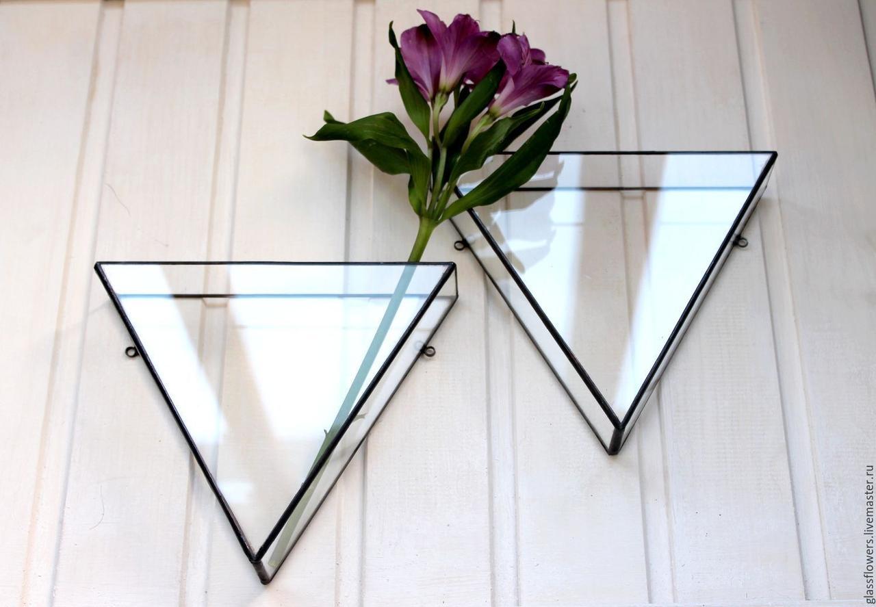 Флорариум для цветов Треугольник настенный 200х200х100