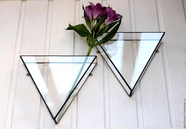 Флорариум для цветов Треугольник настенный 200х200х100, фото 2