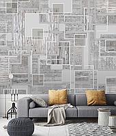 Обои стиль Лофт в спальню Печатный Бетон Wood & Concret 465 см х 280 см