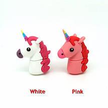 """Оригинальная флешка-игрушка """"Единорог"""" 32 Гб (цвет: розовый), фото 2"""