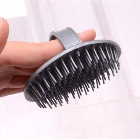 Щетка для массажа кожи головы, нанесения шампуня, фото 2