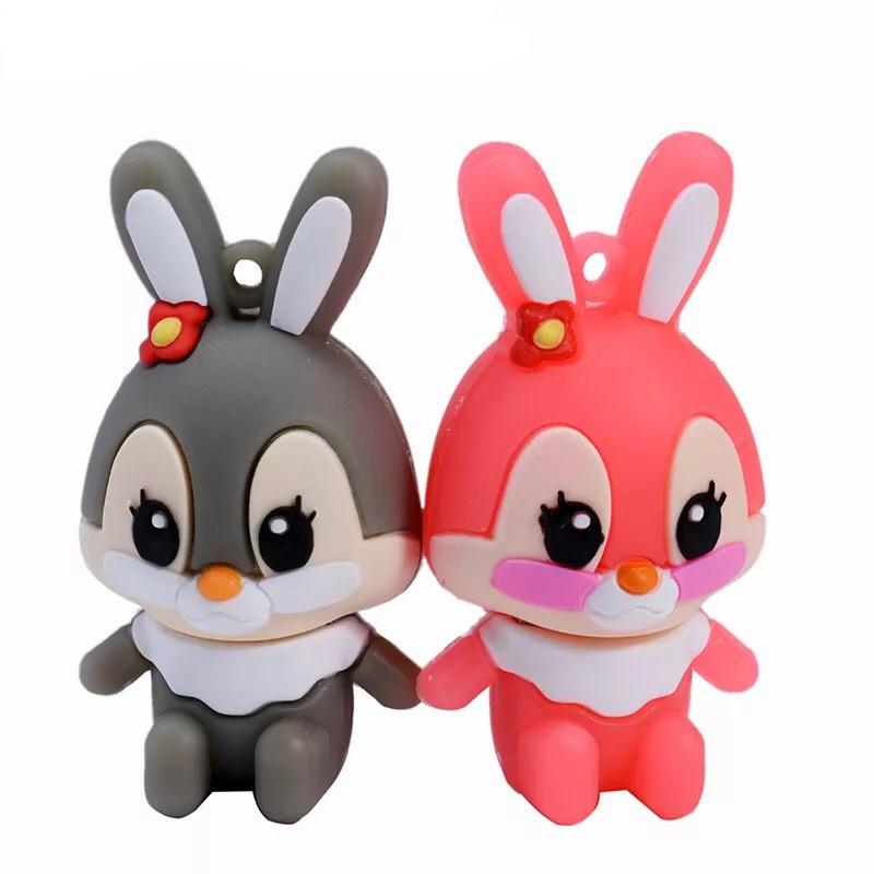 """Флешка """"Кролик"""" (цвет: серый/розовый) 32 Гб"""