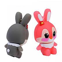 """Флешка """"Кролик"""" (цвет: серый/розовый) 32 Гб, фото 2"""