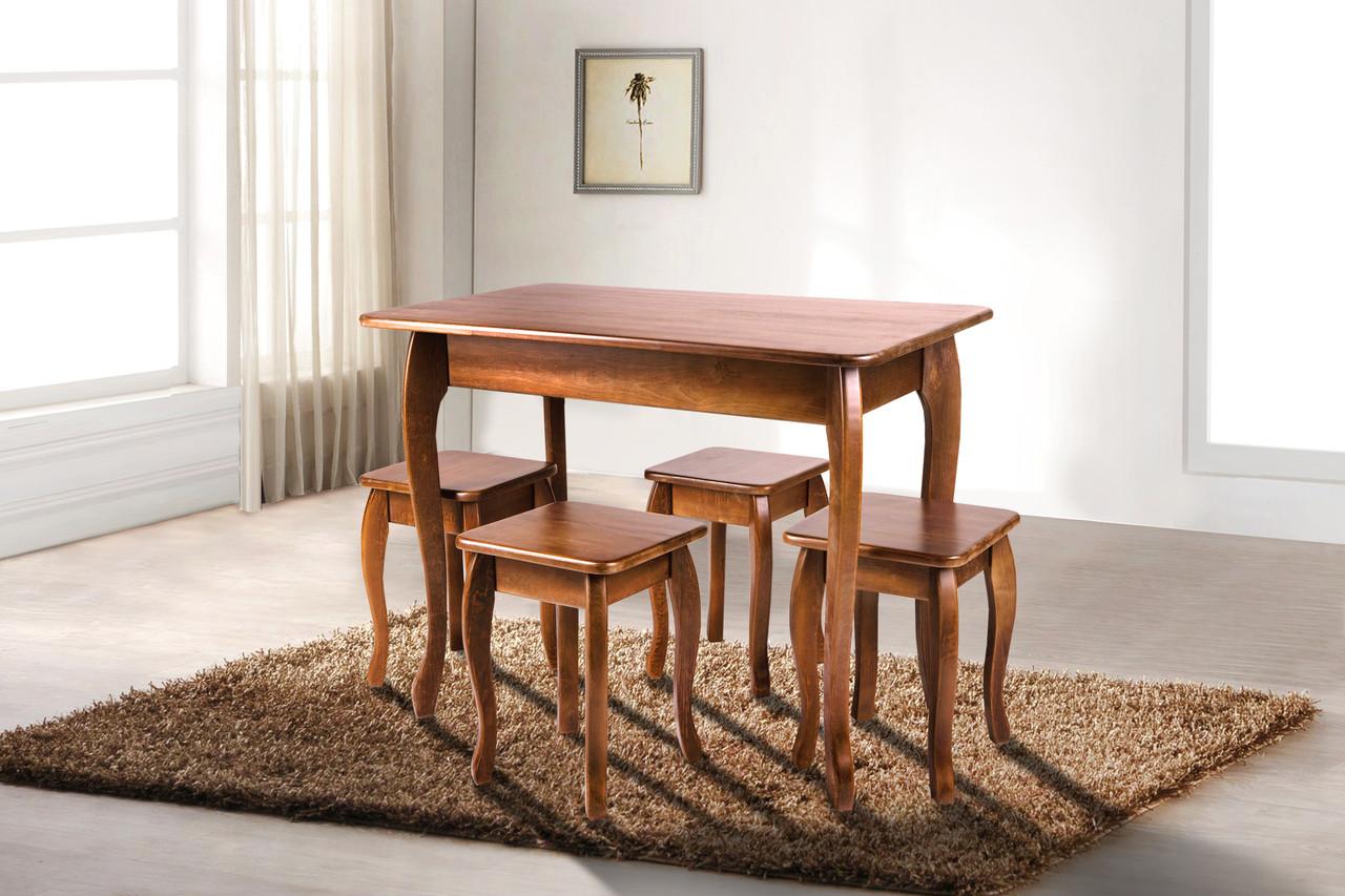 Обеденный стол для маленькой кухни Смарт Микс мебель, цвет темный орех