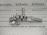 Болт колесный М12х1.5х28 Конус. Хром. Ключ 17