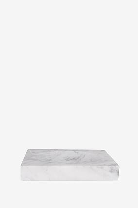 Мильниця з білого мармуру з сірими розводами AWD02341521