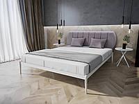 Двуспальная  кровать с мягкой спинкой Бьянка 01 Melbi. Двоспальне металеве ліжко
