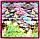 """Шелковый платок Fashion """"Водяные лилии"""" сиреневый 90*90 см репродукция картины, фото 3"""