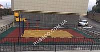 Резиновая плитка 30мм  500/500мм. Резиновые плиты 3см  50*50 см