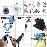 Перчатка-душ для мойки животных VOLRO QL-018 Голубой (vol-475), фото 2