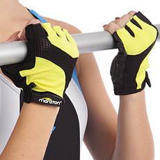 Жіночі рукавички для фітнесу MARATON 01-9662A, фото 3