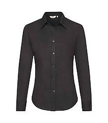 Женская рубашка с длинным рукавом OxFord черная 002-36