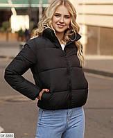 Короткая спортивная демисезонная куртка под горло арт 540