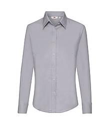 Женская рубашка с длинным рукавом OxFord серая 002-94