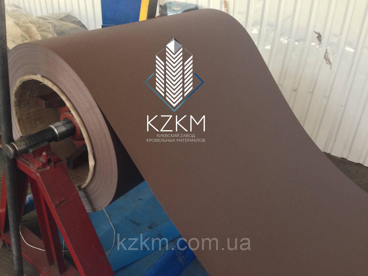 Гладкий лист матовый тёмно-коричневый цвет RAL 8019 pema, купить РАЛ 8019 цвет  шоколад плоский матовый рулон