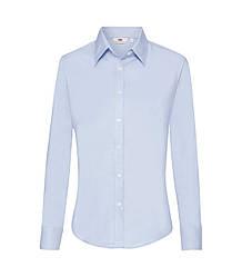 Женская рубашка с длинным рукавом OxFord голубая 002-УТ