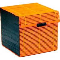 Чемоданчик бамбуковый оранжевый 14х14х15см.