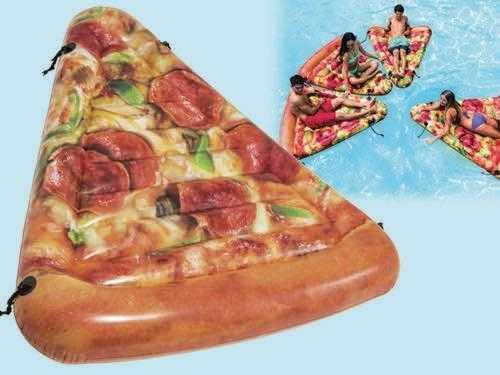 "Intex Матрас 58752 EU (6) ""Пицца"" желтый, 175 х 145 см, от 12-ти лет"