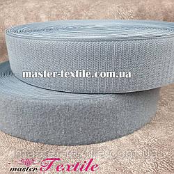 Липучка текстильная 50 мм, 25 метров (серый)