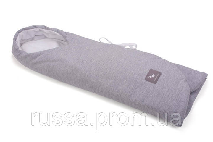 Конверт в коляску и автокресло Cottonmoose ODWF 439/49/51 melange cotton jersey white cotton jersey (серый