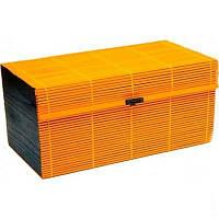 Чемоданчик бамбуковый оранжевый 32х16х17см.