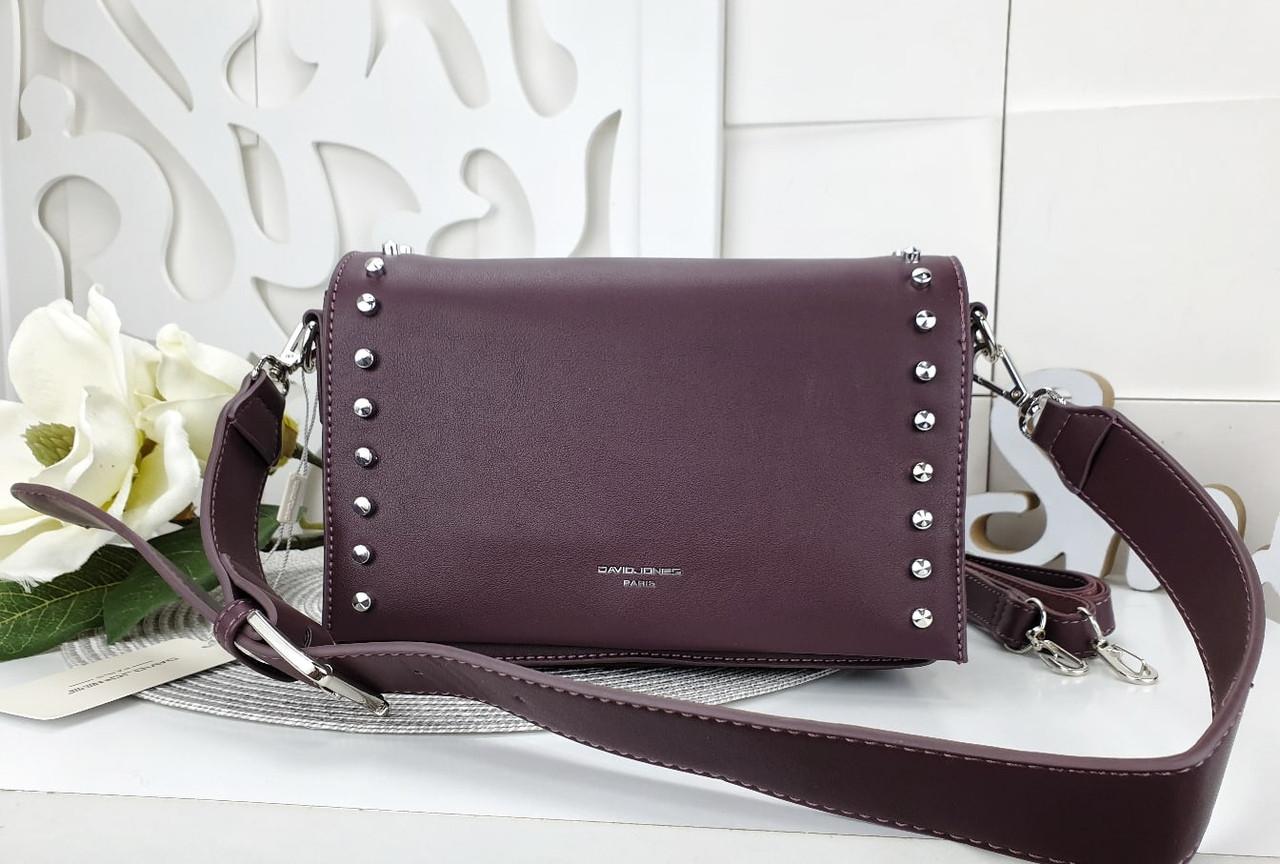 Женская сумка-клатч бордового цвета, эко кожа (под бренд)